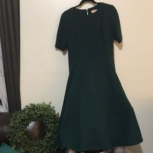 Calvin Klein fit&flare Emerald Dress with Pockets